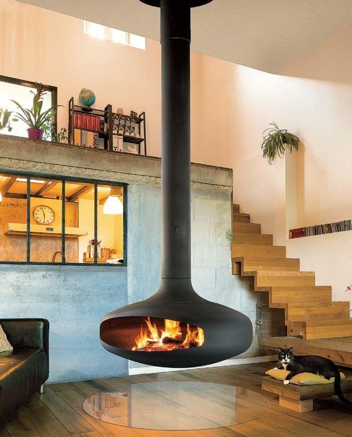 Freihängende Feuerstelle